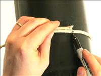 Measure the stovepipe with a string